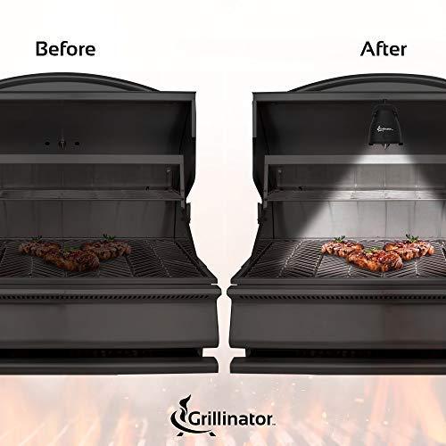 Grillinator Authentic Grilluminator BBQ Grill Light-Ultra Bright Handle Mount LE, Black