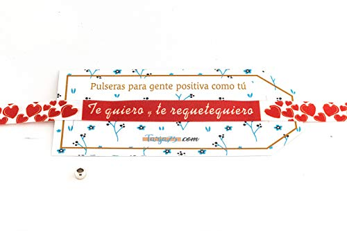 Tarja 73 | Pulseras De Tela Con frases molonas: TE REQUIERO | Regalo Original | Ideal Para Bodas, Aniversarios, Fiestas | Calidad HD