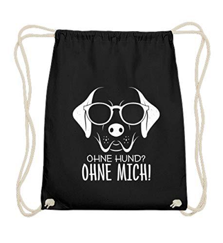 Chorchester Ohne Hund Ohne Mich Für Tier Fans - Baumwoll Gymsac -37cm-46cm-Schwarz