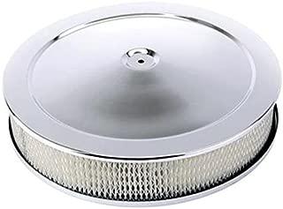 Chrome Deep Dish Performance Air Cleaner, 14 x 4 Inch, 4 Barrel Carb.