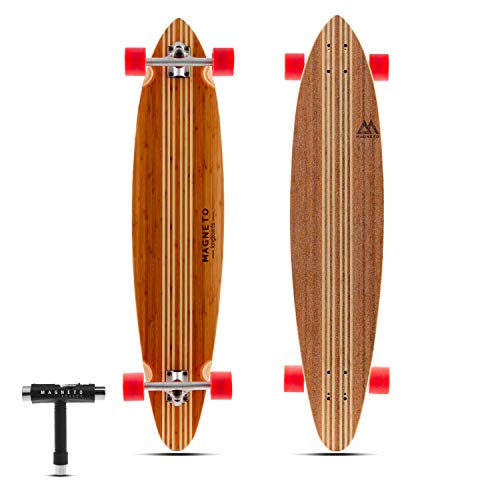 Hana Longboard Collection | Longboard Skateboards | Bamboo with Hard Maple Core | Cruising, Carving, Dancing | Free Skate Tool | Pintail