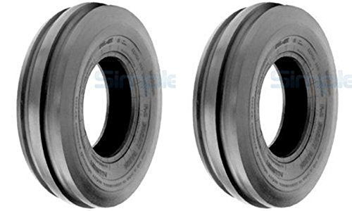 Pair of 6.00X16 Tri Rib Farm Tractor Tires 600x16, 6.00-16 Front TUBELESS Tires