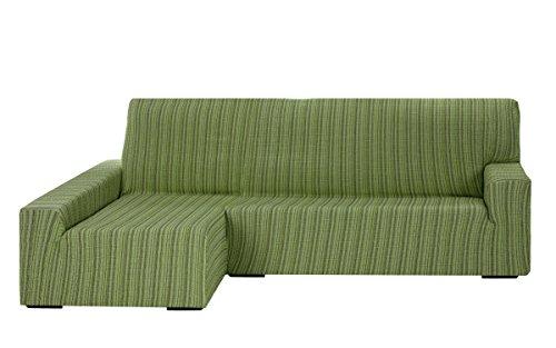 Funda Elástica para Sofá Chaise Longue, modelo MEJICO, Brazo Izquierdo, color VERDE, Tamaño desde 240 a 280 cm