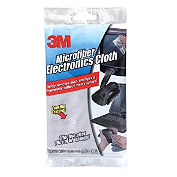 3M Products - 3M - Microfiber Electronics Cleaning Cloth 12.5 x 14.1 White - Sold As 1 Each - Keeps computers monitors TV screens CD/DVD players and other electronic devices free from dust and smudges - Safe to use on virtually any surface in the home or office - Machine washable for repeated use.