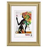 Hama Malaga - Marco (Single Picture Frame, Oro, Vidrio, De plástico, 40 x 50 cm)