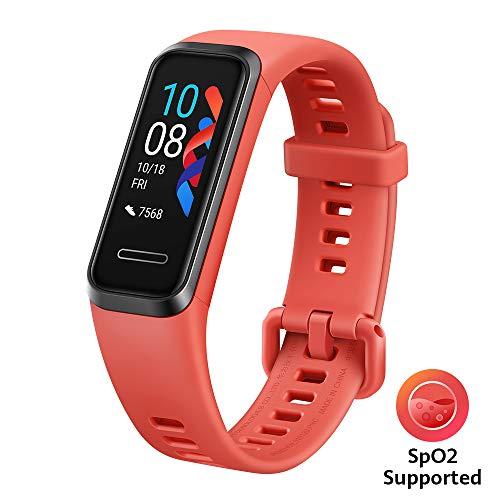 Huawei Band 4 wasserdichter Bluetooth Fitness- Aktivitätstracker mit Herzfrequenzmesser, Sport Band und Touchscreen, Amber Sunrise