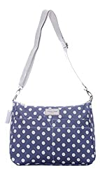 Two prints in one bag. You can choose which side to carry. With two large front pockets and two large inside pockets. Oilcloth on one side and canvas the other side Size: 24cm x 34cm x 10cm Main compartment is zipped no matter which side you use! Det...