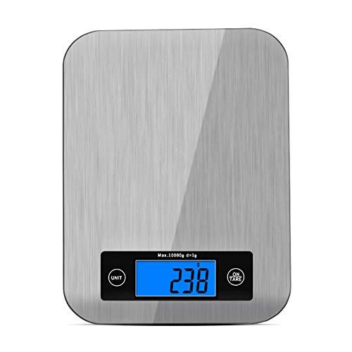 TYSYA Mini Küchenwaage Digital Stilvoll Schlank Elektronische Lebensmittelwaage 10 Kg Wiegen Hohe Präzision Kochen Backen Ungleichgewicht Edelstahlplatte LCD Bildschirm