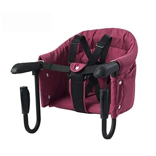 Hook On Trona para Bebé - Asiento de Bebé Plegable Portátil Extraíble, Silla de Mesa Rápida para el Hogar, Viajes y Restaurante (gris) ⭐