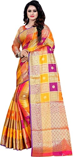 Ar Collection Women's Soft Silk Saree With Blouse Piece (S-36_Multicolor)