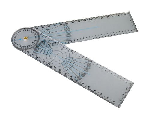 Winkelmesser aus Kunststoff  Schenkellänge 18 cm