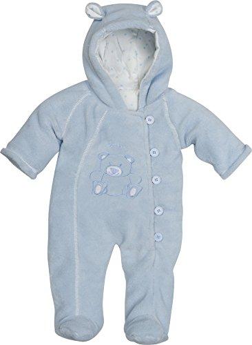 Playshoes Unisex - Baby Schneeanzug Fleece Overall/Fleeceanzug, Dick Wattiert, Oeko Tex Standard 100, Gr. 74, Blau (Bleu 17)