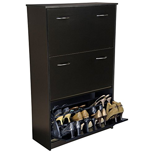 Baxton Studio Wholesale Interiors Winda Modern and Contemporary 4-Door Dark Brown Wooden Entryway Shoes Storage Cabinet