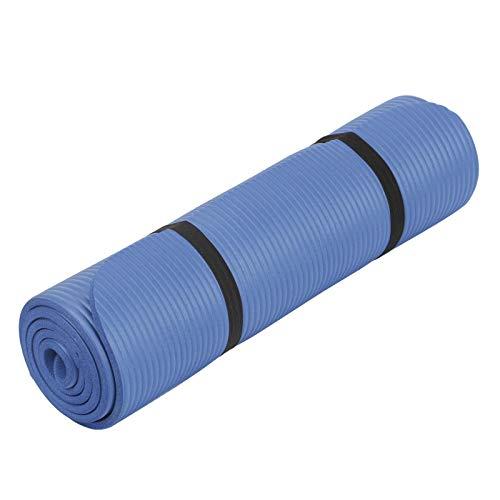 WOSHUAI Comfort Gym Mat Yoga Mat Yoga Pilates Fitness Mat 1830mm * 610mm * 10mm Estera Deportiva Estera De Fitness Azul