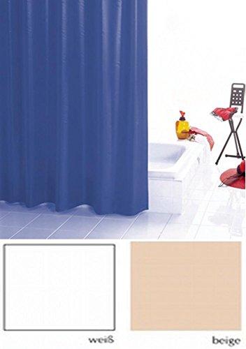 Duschvorhang PUR Farbe: beige BxH 120x200cm Badewannenvorhang Wannenvorhang Textilvorhang Dusche Vorhang für die Dusche