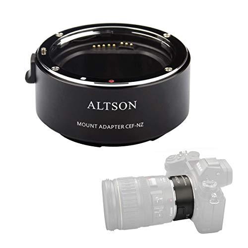 Altson Der CEF-NZ Autofokus Smart Adapter ist kompatibel mit dem Canon EF/EF-S Objektiv zur Nikon Z Mount Kamera Z6 Z7
