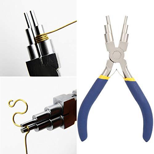Surebuy 6 en 1, Herramientas de Mano Redondas, alicates de joyería para la fabricación, duraderas para la reparación de Joyas, Calor de Alta frecuencia
