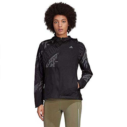 adidas Damen Own The Run Jacke, Black/Refsil, M