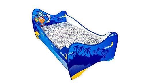 Ein Kinderbett mit Absturzsicherung und einem Lattenrost | PIRAT | | 140 x 70 cm | *MATRATZE GRATIS* | 30 designs |