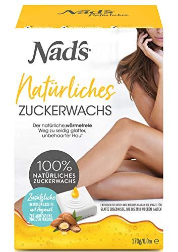 Nad\'s Zuckerpaste Haarentfernung Waxing Set für Gesicht, Körper, Rücken, Beine, Bikinizone, Arme, Achseln, Frauen+Männer