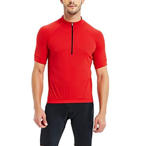 CATENA Men's Cycling Jersey Short Sleeve Shirt Running Top Moisture Wicking Workout Sports...