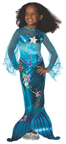 Rubies - Disfraz de sirena infantil, talla S (882718-S)