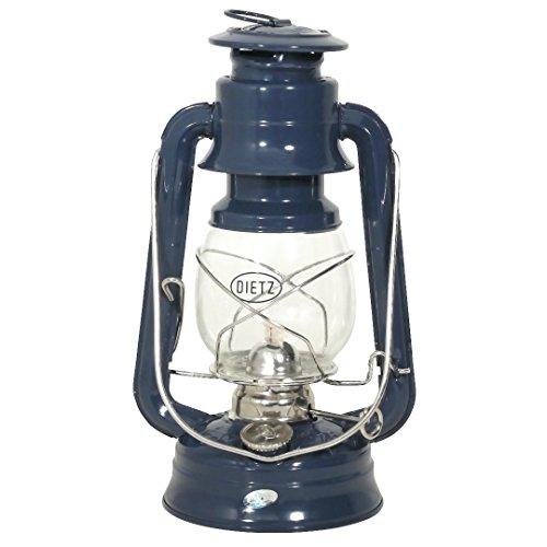 Petroleumlampe original DIETZ Sturmlaterne, marineblau, Höhe 25,4 cm