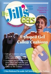 Self-Sticking and Re-Usable Dr Jills Gel Ball of Foot Cushions
