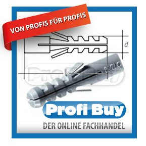 Profi-Buy JD Universal Flossendübel Nylon | Ø 6 MM x 35 MM | VE: 100 STCK