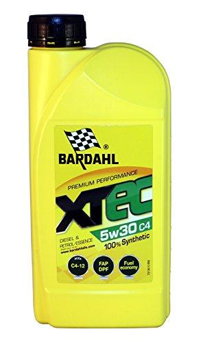 Bardahl Huile Moteur XTEC 5W30 C4 100% Synthétique - Essence & Diesel 1L