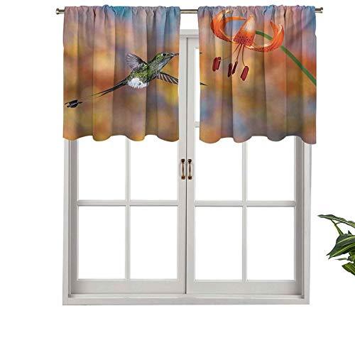 Hiiiman Cenefa de cortina para interiores y hogares, diseño de néctar con cola de raqueta con botas, de Tiger Lily, juego de 1, 137 x 45 cm para baño y cafetería.