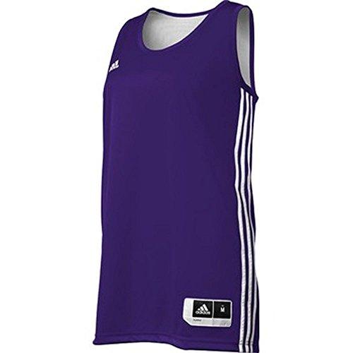 adidas - Camiseta de Baloncesto Reversible para Mujer, Atlético, XXS, Púrpura, Blanco
