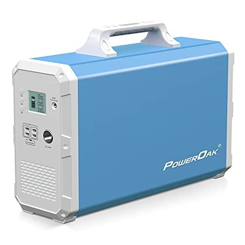 PowerOak Bluetti EB240 2400Wh Generador Solar Portátil con Inversor de 1000W y Salidas AC/DC/USB, Generador Electrico Solar Power Station con Batería de Litio para Camping y Autocaravana
