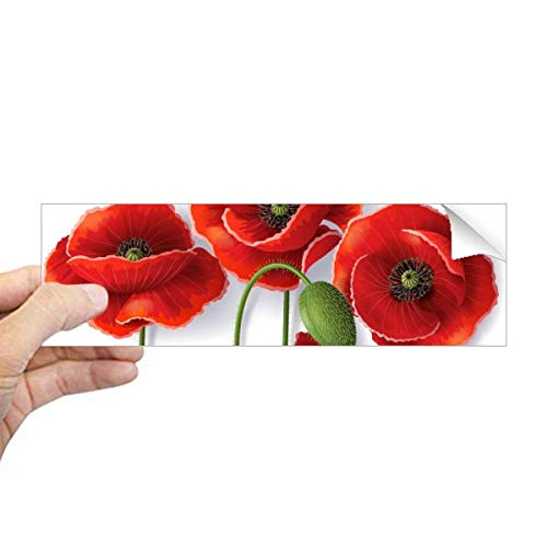 DIYthinker Rode Bloemen Schilderij Maïs Papaver Bloemblaadjes Fruit Rechthoek Bumper Sticker Notebook Window Decal