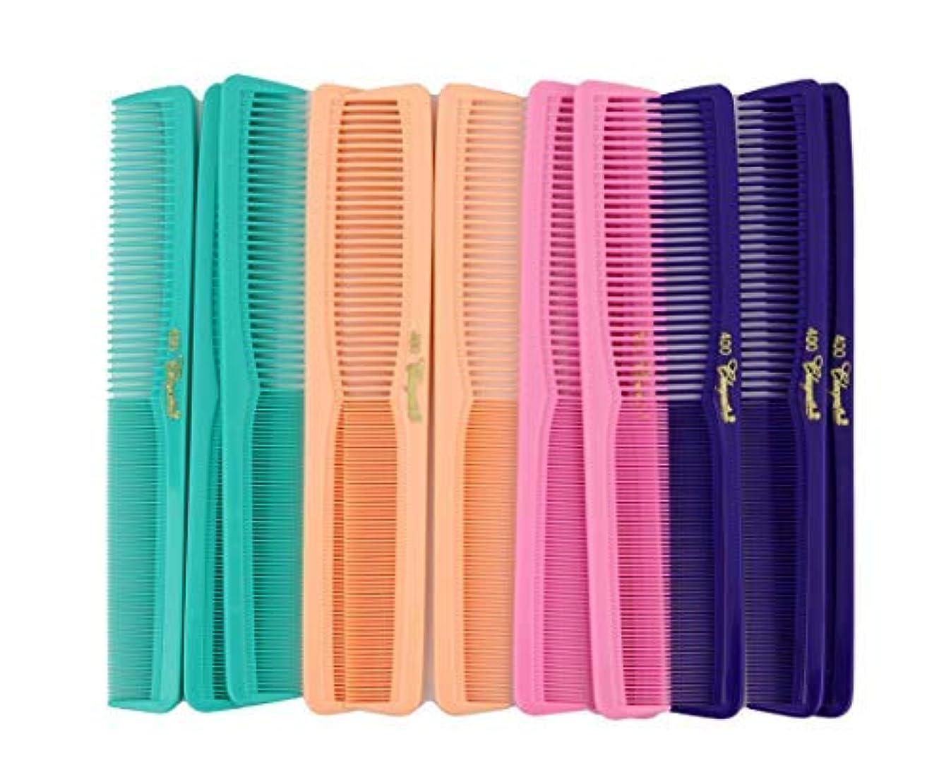 雪だるまプール警告7 inch All Purpose Hair Comb. Hair Cutting Combs. Barber's & Hairstylist Combs. Fresh Mix 12 Units. [並行輸入品]