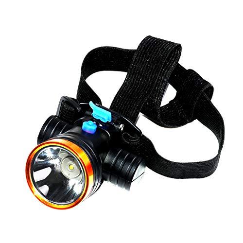 Lampe Frontale à LED, Mini Phare Rechargeable étanche à la pêche Nocturne Lampe Frontale à Longue portée