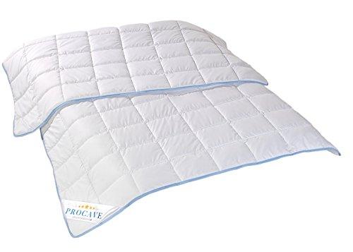 PROCAVE TopCool Qualitäts-Kinder-Bettdecke für den Sommer 100x135cm, Soft-Komfort-Bettdecke, kochfeste Steppdecke, atmungsaktiv & wärmeausgleichend 100% aus Deutschland