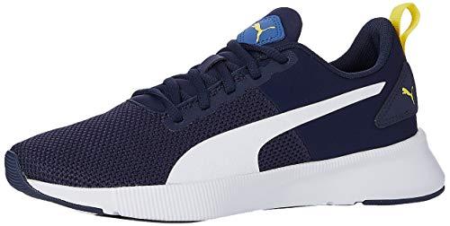 PUMA Flyer Runner Jr Sneaker, Galaxy Blue White-Peacoat-Meadowlark, 38 EU