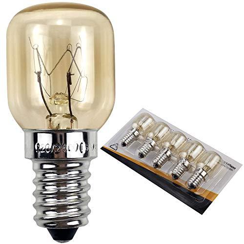 YANUODA Bombilla para horno 25W 300 ° C Pequeño tornillo Edison E14 Base de níquel Bombilla para lámpara de sal Lámpara pigmea (5)