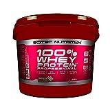 Scitec Nutrition 100% Whey Protein Professional mit extra zusätzlichen Aminosäuren und Verdauungsenzymen, 5 kg, Schokolade