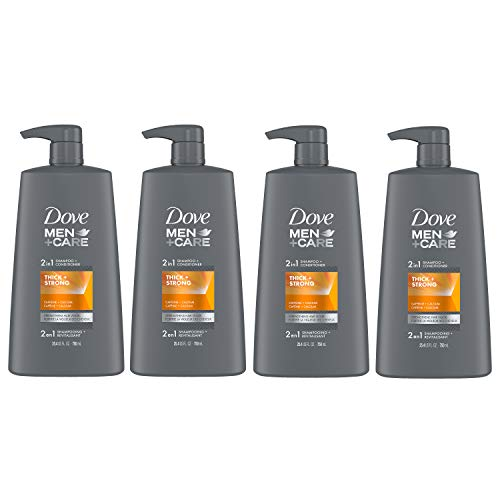 Dove 2 in 1 Shampoo & Conditioner Fortifying Shampoo Cleans and Purifies Thick & Strong Strengthens and Recharges Hair Vigor 25.4 oz 4 count