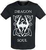Elder Scrolls The V - Skyrim - Dragon Soul Männer T-Shirt schwarz XL