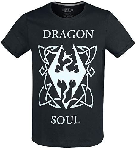 Elder Scrolls The V - Skyrim - Dragon Soul Männer T-Shirt schwarz L