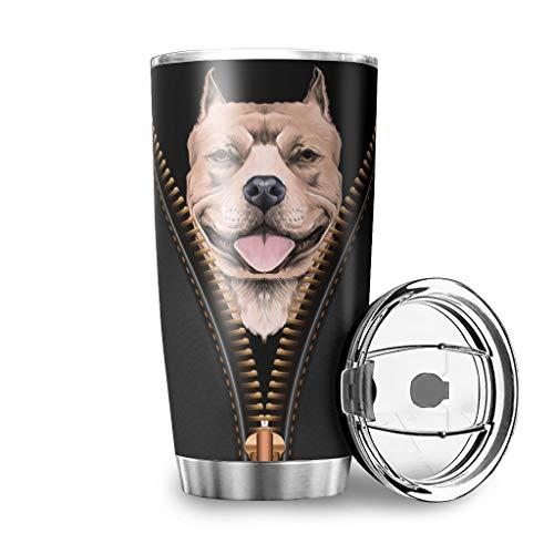 XHJQ88 20 OZ. Tumbler I Am Your Friend Partner Hond Auto Cup Vacuüm - Koffie Beker met Duurzame Poeder Gecoat voor Auto