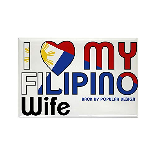 CafePress I Love My Filipino Wife Magnets Rectangle Magnet, 2'x3' Refrigerator Magnet