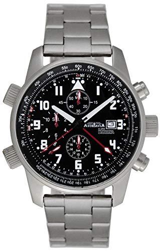 Astroavia Herren-Armbanduhr Alarm Chronograph Quarz TC73