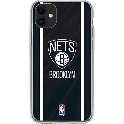 Skinit Clear Phone Case Compatible with iPhone 11 - Officially Licensed NBA Brooklyn Nets Jersey Design