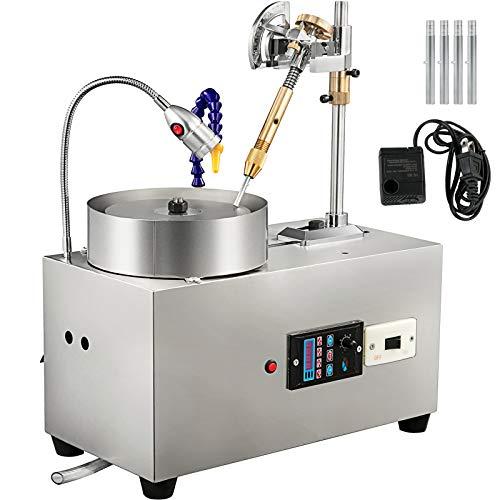 VEVOR Máquina de Facetado de Gemas, Pulidora de Roca y Joyas,Máquina de facturación de Gemas Jade plana, 2800RPM