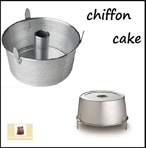 stampo chiffon cake angel cake ciambella americana cm 26 alluminio con piedini