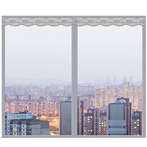 ALSGON Glasvezel venster gaas, Insect gordijn met magneten voor raam en deur, geen boren, lijm Clips installeren Geschikt voor meerdere ramen